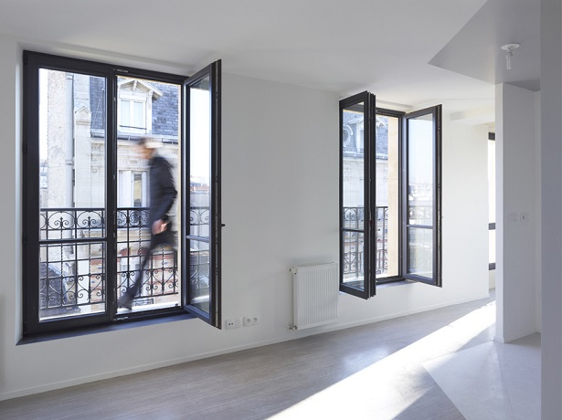 """""""The project of the rue Godefroy Cavaignac, in Paris, consisted in the rehabilitation of a degraded building into new social housing by h2o architectes."""" 19th century building made modern by h2o architectes 19th century building made modern by h2o architectes 19th century building made modern by h2o architectes 03"""