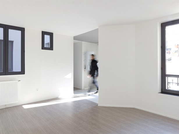 """""""The project of the rue Godefroy Cavaignac, in Paris, consisted in the rehabilitation of a degraded building into new social housing by h2o architectes."""" 19th century building made modern by h2o architectes 19th century building made modern by h2o architectes 19th century building made modern by h2o architectes 05"""