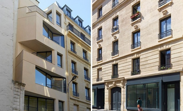 """The project of the rue Godefroy Cavaignac, in Paris, consisted in the rehabilitation of a degraded building into new social housing by h2o architectes."" 19th century building made modern by h2o architectes 19th century building made modern by h2o architectes 19th century building made modern by h2o architectes slide 640x390"