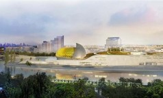 """Shigeru Ban has won an international design competition to design ""Cité Musicale,"" a new mixed-use cultural center slated for Seguin Island in Paris."""