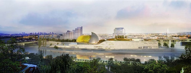 """Shigeru Ban has won an international design competition to design ""Cité Musicale,"" a new mixed-use cultural center slated for Seguin Island in Paris."" Shigeru Ban will design the 'Cite Musicale' in Paris Shigeru Ban will design the 'Cite Musicale' in Paris Paris Design Agenda Cite Musicale Paris slide"