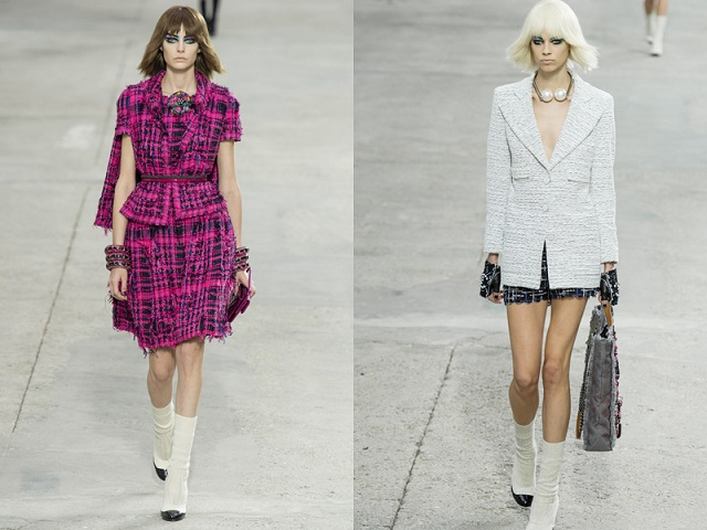 """""""In the most recent edition of Paris Fashion Show the iconic Designer Karl Lagerfeld created a ready-to-wear Spring/Summer 2014 Collection for Chanel."""" Paris Fashion Show: Karl Lagerfeld Collection for Chanel Paris Fashion Show: Karl Lagerfeld Collection for Chanel Paris Fashion Show Karl Lagerfeld for Chanel 02"""