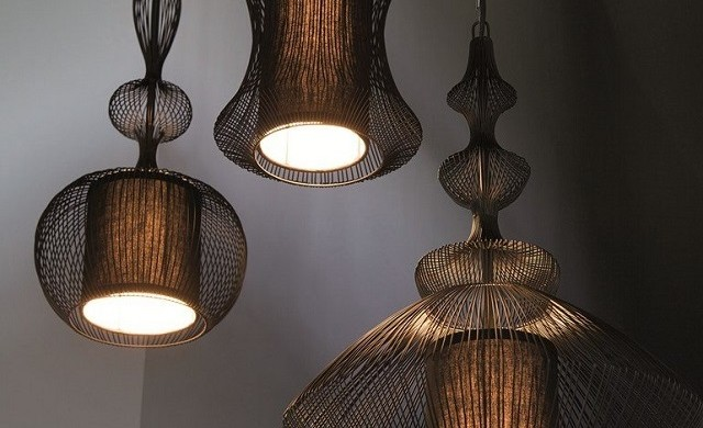 """Forestier Paris has created a collection of table lamps and pendant lights called Fil de fer."" Fil de fer Collection by Forestier Paris Fil de fer Collection by Forestier Paris Fil de fer Collection by Forestier Paris slide 640x390"