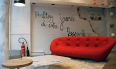 """Ligne Roset will open its new showroom in Paris at the street Réaumur in February 2014. In November 2013, the future store was half-opened for a unique event."""