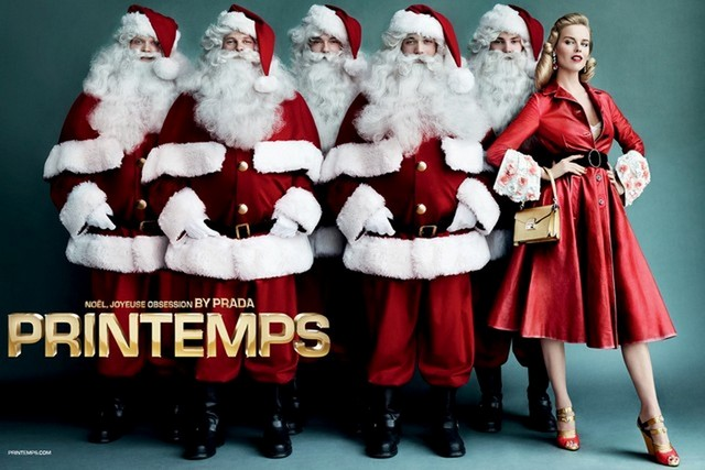 """""""Printemps and Prada teamed up for the holidays as a way of reinterpreting and enchanting customers with the essential and obsessional Christmas classics."""" Printemps partners with Prada for a Joyful Obsession Printemps partners with Prada for a Joyful Obsession Printemps and Prada 2"""