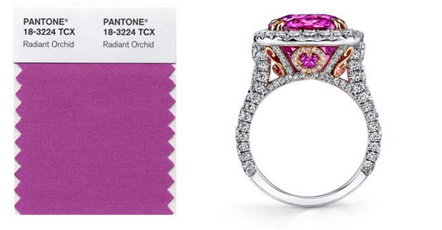 """Pantone's 2014 color trend was unveiled and the chosen one was Radiant Orchid"""