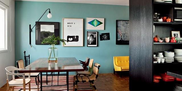 Colorful apartment of Maurício Arrude
