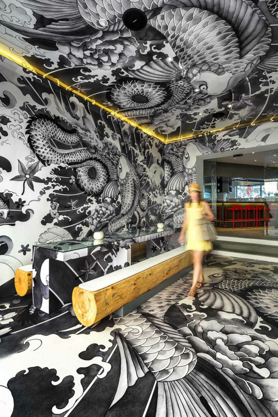 Vincent Coste Designs Japanese Restaurant With Tattoos (1)