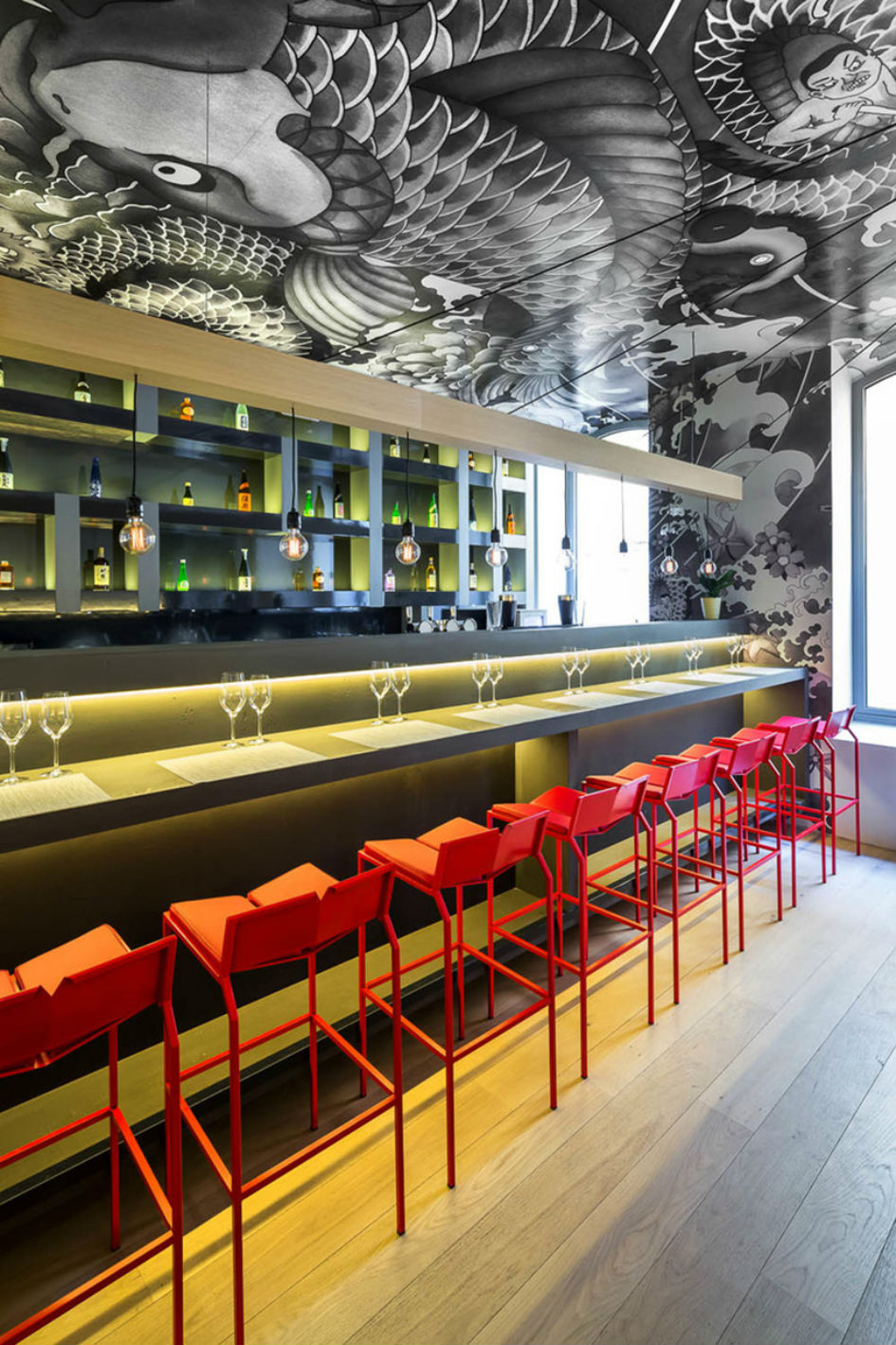 Vincent Coste Designs Japanese Restaurant With Tattoos (5)