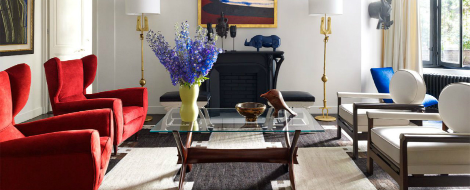 Be Marveled by a Mid-Century Modern Living Room with a Parisian Twist