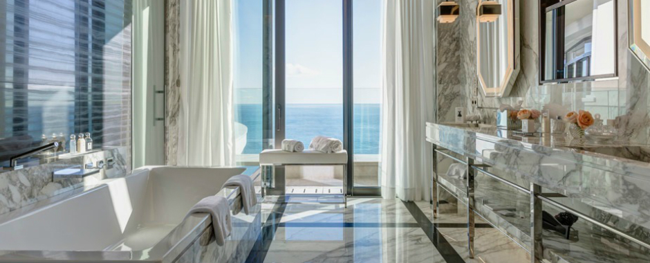 Be Amazed by the Unique Bathroom Suites of Hotel de Paris Monte-Carlo