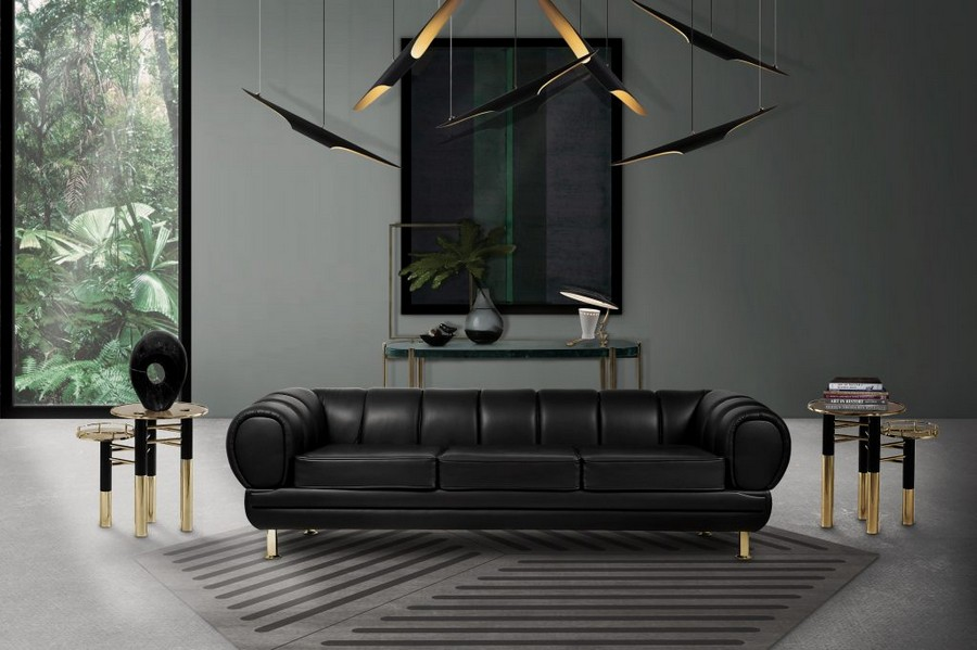 Enhance Your Living Room Decor With Outstanding Black Leather Sofas Paris Design Agenda