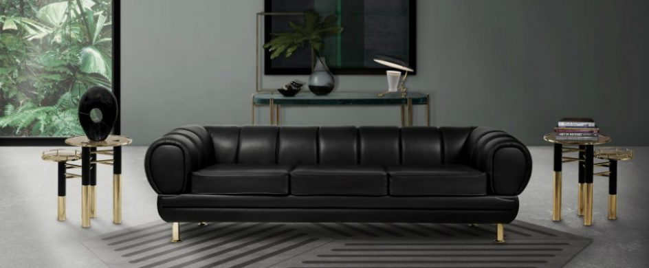 Enhance Your Living Room Decor with Outstanding Black Leather Sofas