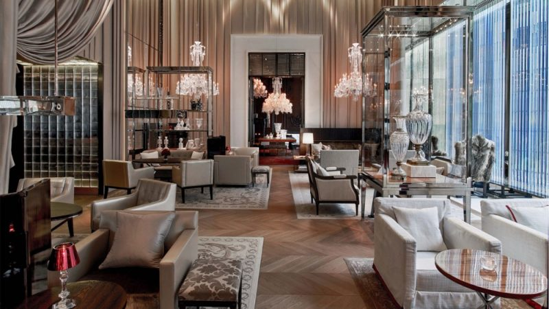 Top French Interior Designers and Their Luxurious Projects top french interior designers Top French Interior Designers and Their Luxurious Projects Exclusive Luxury Hotels Designs by Gilles Boissier Hotel Baccarat New York 2 e1553618690244