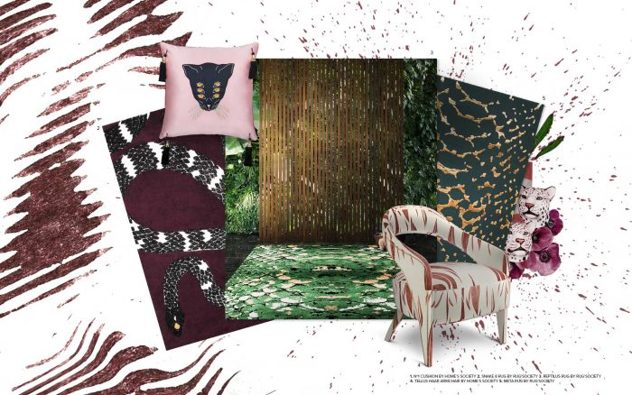 Animal Print, The Perfect Trend To Your Home Décor animal print trend Animal Print, The Perfect Trend To Your Home Décor moodboard collection animal print interior decor trend for 2019 12 700x438