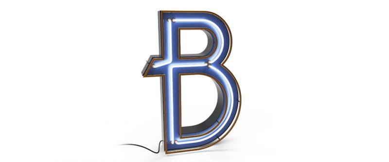 Modern Retro Trend, The Perfect Interior Design Match [object object] Modern Retro Trend, The Perfect Interior Design Match b letter graphic lamp 1 e1555949155874