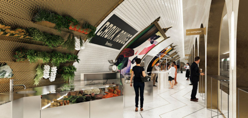 Croix Rouge Metro Station Will Be Transformed Into A Stylish Bar [object object] Croix Rouge Metro Station Will Be Transformed Into A Stylish Bar 1556532504 la halle alimentaire projet exact1024x768 l 1