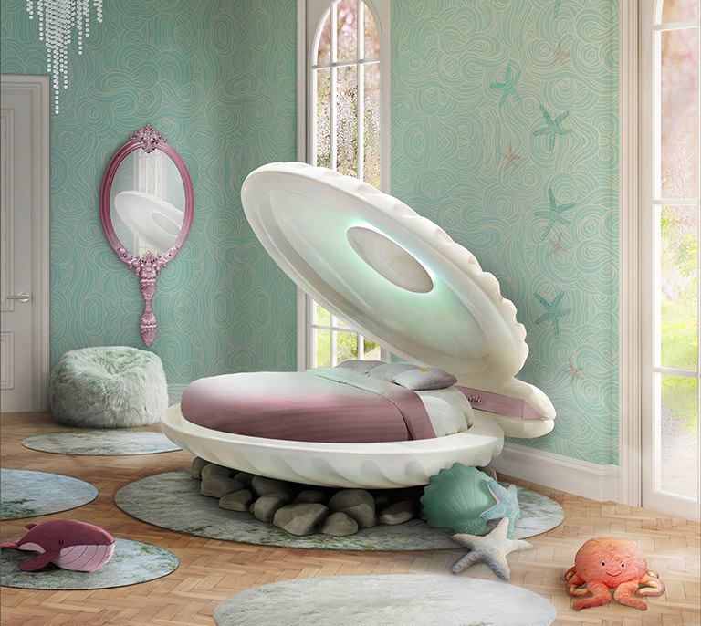 Inspire Your Kid's Bedroom Décor With LOVMYB Luxurious Marketplace lovmyb Inspire Your Kid's Bedroom Décor With LOVMYB Luxurious Marketplace little mermaid bed clam shell shaped kids bed 0
